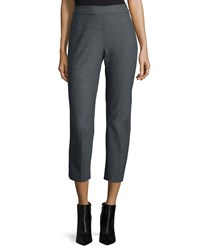 Natori Slim Leg Cropped Pants Heather Gray