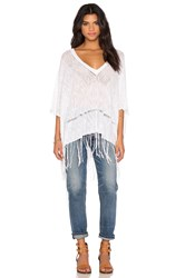 Feel The Piece Essex Fringe Poncho White
