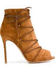 Gianvito Rossi Lace Up Detail Boots Brown