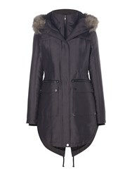 Label Lab Sporty Double Front Parka Grey
