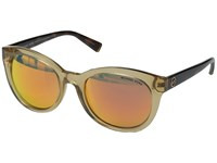 Michael Kors Champagne Beach Glossy Brown Tortoise Fashion Sunglasses