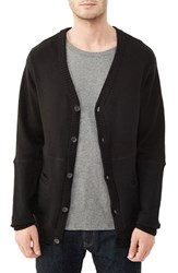 Alternative Apparel Men's Alternative 'Letterman' Cotton And Cashmere Cardigan Black