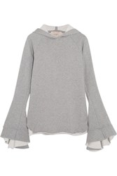 Maggie Marilyn Quietly Confident Organic Cotton Jersey Hooded Top Gray