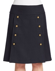 424 Fifth Twill A Line Skirt Deep Navy