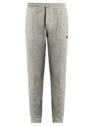 Polo Ralph Lauren Seamed Front Cotton Track Pants Light Grey