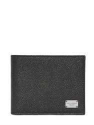 Dolce And Gabbana Dauphine Leather Classic Id Wallet