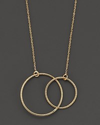 Lana 14K Yellow Gold Magnetic Double Circle Necklace 18