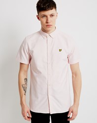 Lyle And Scott Short Sleeve Oxford Shirt Pink