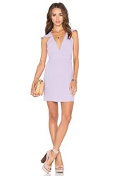 Nbd X Naven Twins Flutter Sleeve Romance Bodycon Dress Purple