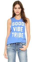 Spiritual Gangster Good Vibe Tribe Rocker Tank Ultramarine