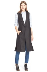 Ayr Sleeveless Linen Blazer Black