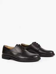 A.P.C. Black Leather Gustave Derby Shoe