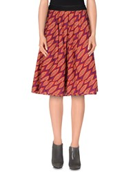 Erika Cavallini Semi Couture Erika Cavallini Semicouture Skirts Knee Length Skirts Women Mauve