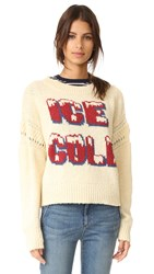 Wildfox Couture Freezin Sweater Marled Vanilla Latte