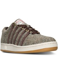 K Swiss Men's The Classic '88 Harris Tweed Casual Sneakers From Finish Line French Roast Egg Nogg
