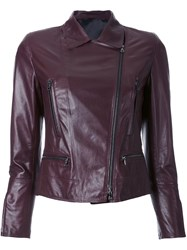 Sylvie Schimmel 'Motard Glove Prune' Jacket Pink And Purple