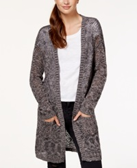 Material Girl Juniors' Cutout Back Open Knit Cardigan Sweater Only At Macy's Grey