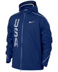 Nike Men's Hypershield Team Usa Jacket Deep Royal Blue