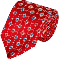 Kiton Neat Jacquard Neck Tie Red