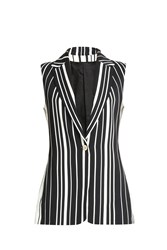 Elie Saab Striped Gilet Multi
