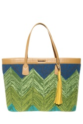 Missoni Wool Tote Bag Blue