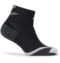 Nike Elite Cushion Quarter Dri Fit Running Socks Black