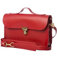 N'damus London Trilogy Red Rucksack And Satchel Small
