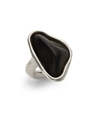 Uno De 50 Swarovski Crystal Statement Ring Black