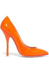 Giuseppe Zanotti Neon Patent Leather Pumps Orange