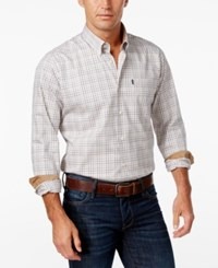 Barbour Men's Charles Tattersall Check Long Sleeve Shirt Copper