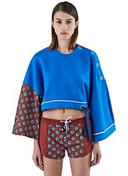 Bobby Kolade Boubou Cropped Sweater Blue