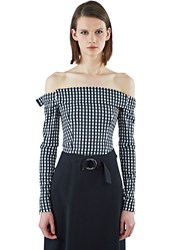 Preen Kailey Gingham Cropped Top Black