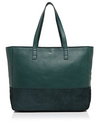 Facine Suede Carryall Tote Forest