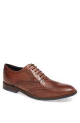 Hush Puppies 'Style' Wingtip Tan Leather