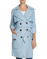 Bcbgeneration Chambray Double Breasted Trench Coat Compare At 258