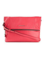 Emporio Armani Fold Flap Clutch Red