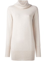 Roberto Collina Roll Neck Jumper Nude And Neutrals