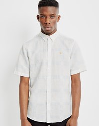 Farah Holme Slim Short Sleeve Button Down Shirt White