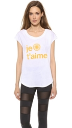 Soulcycle Je T'aime Tee White Neon Orange