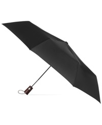 Totes Titan Wooden Handle Umbrella Black