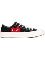 Comme Des Garcons Play Heart Logo Lace Up Sneakers Black