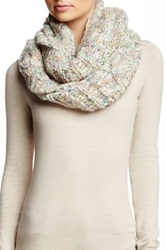 Michael Stars Cabled Confetti Infinity Scarf White