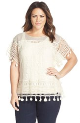 Plus Size Women's Tart 'Caris' Crochet Lace Top