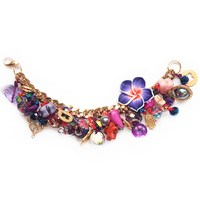 Miss High And Low Autumn Party Bracelet Gold Pink Purple