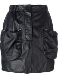 J.W.Anderson Patch Pockets Fitted Skirt Black