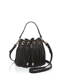Milly Crossbody Essex Fringe Small Drawstring Black