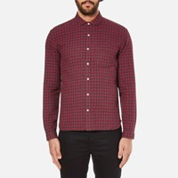 Oliver Spencer Men's Eton Collar Shirt Liscard Red