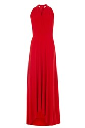 Coast Corwin Hi Low Maxi Dress Red