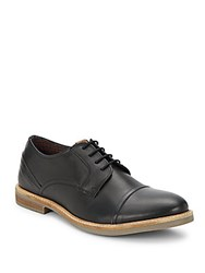 Ben Sherman Leon Leather Derby Shoes Black