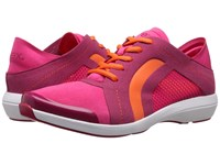 Aetrex Berries Fashion Sneakers Pomegranate Women's Lace Up Casual Shoes Pink